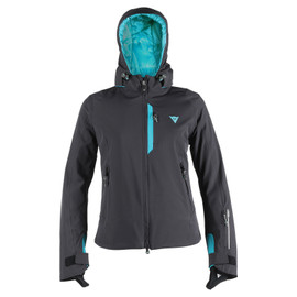SARENNE D-DRY® JACKET LADY BLACK/BLACK/BRIGHT-AQUA