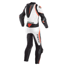 LAGUNA SECA 4 1PC PERF. LADY LEATHER SUIT BLACK/WHITE/FLUO-RED- Professionnelles