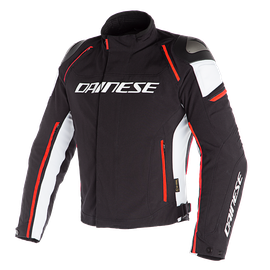 RACING 3 D-DRY JACKET BLACK/WHITE/FLUO-RED