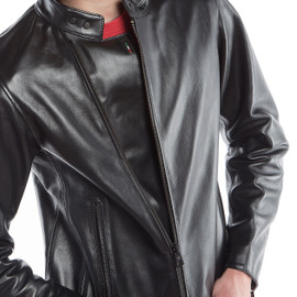 CHIODO72 LEATHER JACKET BLACK- Dainese72