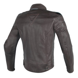 STREET DARKER PERFORATED LEATHER JACKET DARK-BROWN