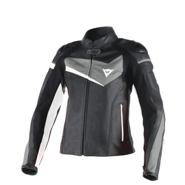 VELOSTER LADY LEATHER JACKET BLACK/ANTHRACITE/WHITE