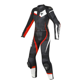 VELOSTER 2 PIECE LADY SUIT BLACK/WHITE/FLUO-RED