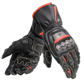 FULL METAL 6 GLOVES BLACK/BLACK/FLUO-RED