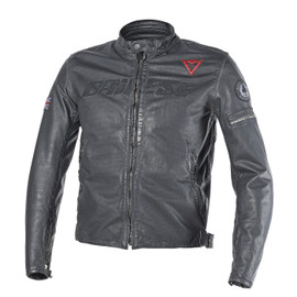 ARCHIVIO PERF. LEATHER JACKET BLACK ACE