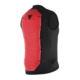 GILET MANIS 13 BLACK/RED-FLUO