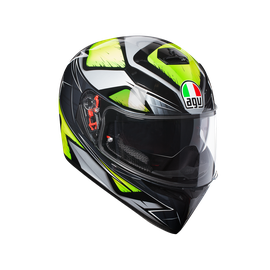K-3 SV E2205 MULTI - LIQUEFY GREY/YELLOW FLUO - Full-face