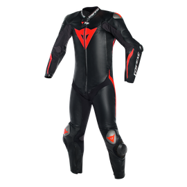 Mugello R D-air®  BLACK/BLACK/FLUO-RED- Lederkombi