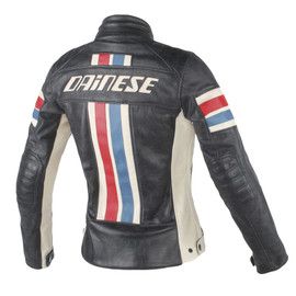 LOLA D1 LADY LEATHER JACKET BLACK/ICE/RED/BLUE