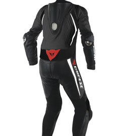 LAGUNA SECA D1 1 PC. SUIT BLACK/BLACK/WHITE