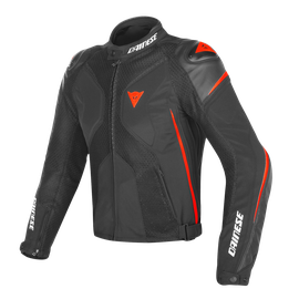 SUPER RIDER D-DRY® JACKET BLACK/BLACK/RED-FLUO