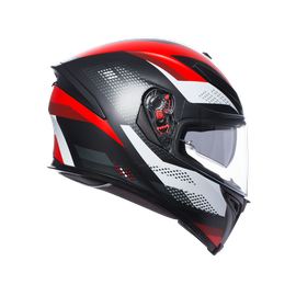 K-5 S AGV E2205 MULTI PLK - MARBLE MATT BLACK/WHITE/RED - undefined