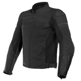 AGILE LEATHER JACKET BLACK-MATT/BLACK-MATT/BLACK-MATT