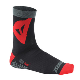 RIDING SOCKS MID BLACK/RED
