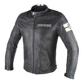 HF D1 PERFORATED LEATHER JACKET BLACK/ICE- Jackets