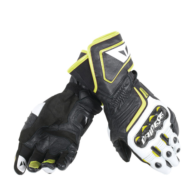 CARBON D1 LONG GLOVES BLACK/WHITE/FLUO-YELLOW