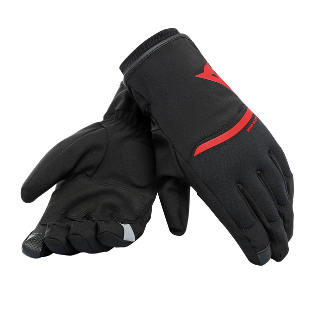 PLAZA 2 D-DRY GLOVES BLACK/RED- D-Dry®