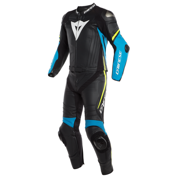 LAGUNA SECA 4 2PCS SUIT BLACK/FIRE-BLUE/FLUO-YELLOW