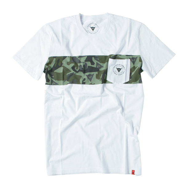 T-SHIRT CAMO STRIPE WHITE/GREEN