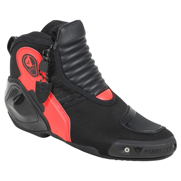 DYNO D1 SHOES BLACK/FLUO-RED- Cuir