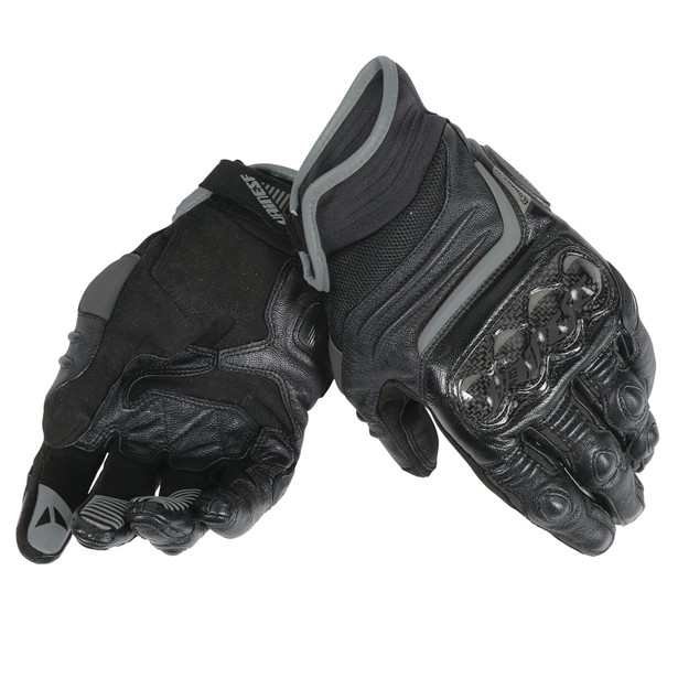 CARBON D1 SHORT LADY GLOVES BLACK/BLACK/BLACK- Leather
