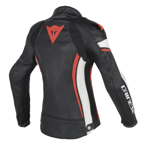 ASSEN LADY LEATHER BLACK/WHITE/RED-FLUO- Leather