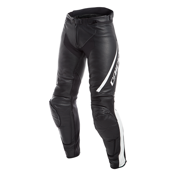 ASSEN LADY LEATHER PANTS BLACK/WHITE