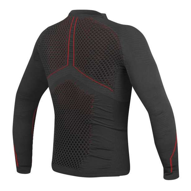 D-CORE NO WIND THERMO TEE LS  BLACK/RED- Shirts