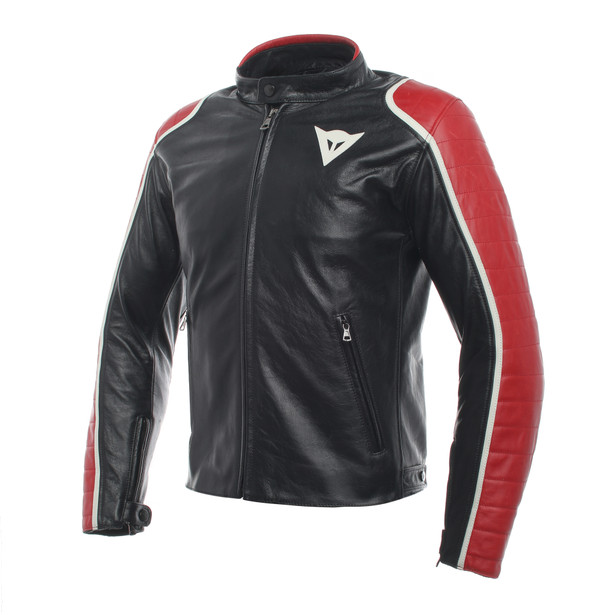 SPECIALE LEATHER JACKET BLACK/RED- Jackets