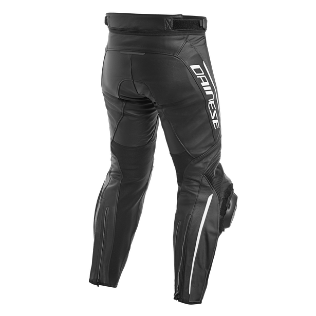 DELTA 3 PERF. LEATHER PANTS BLACK/BLACK/WHITE- Leather