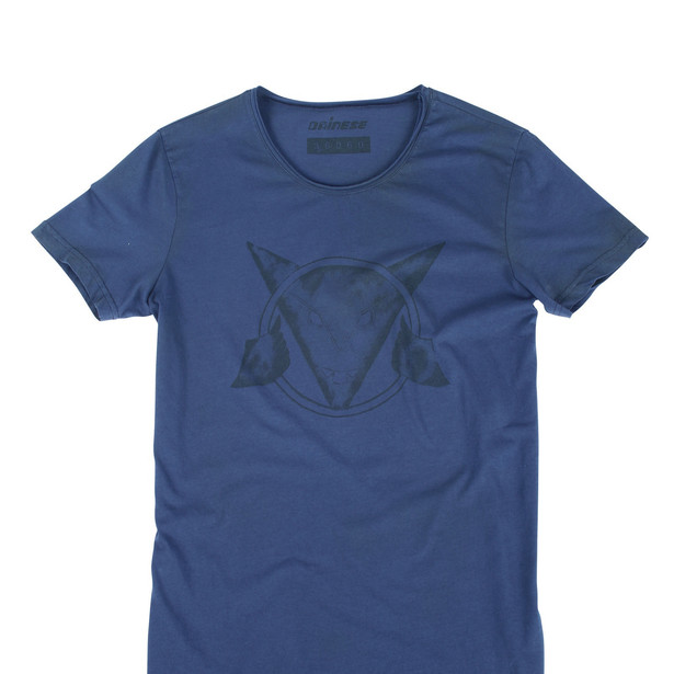 SCRAWL T-SHIRT BLUE-NAVY