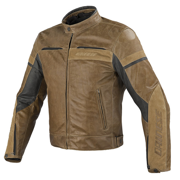 STRIPES EVO C2 LEATHER JACKET