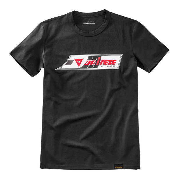 SPEED-LEATHER T-SHIRT BLACK