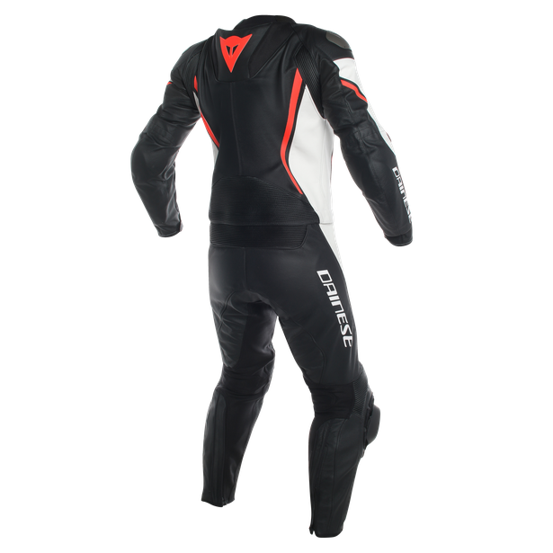 ASSEN 2 PCS PERF. SUIT BLACK/WHITE/FLUO-RED- Deux Pieces