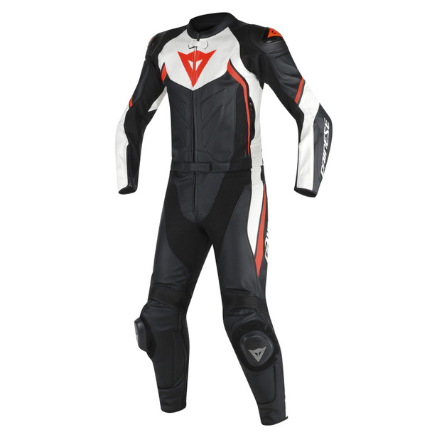 AVRO D2 2PCS SUIT BLACK/WHITE/RED-FLUO