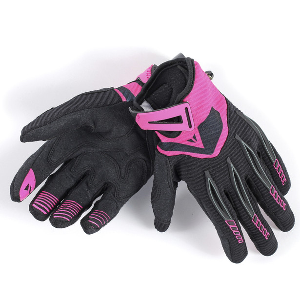 PADDOCK LADY GLOVES BLACK/FUCHSIA