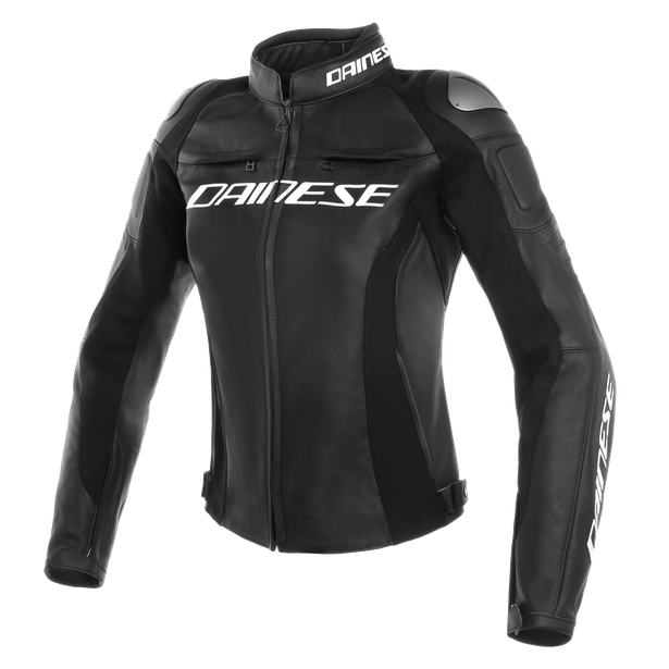 RACING 3 LADY LEATHER JACKET BLACK/BLACK/BLACK- Piel