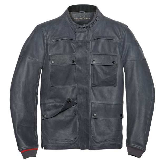 KIDAL LEATHER JACKET EBONY- Leder