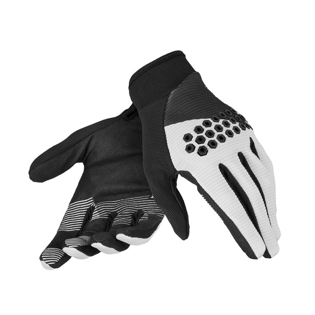 ROCK SOLID-D GLOVES WHITE/BLACK/WHITE- undefined