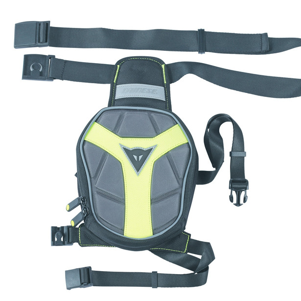 D-EXCHANGE LEG BAG SMALL BLACK/ANTHRACITE/FLUO-YELLOW