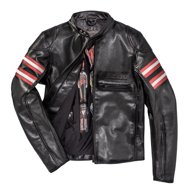 RAPIDA72 PERF. LEATHER JACKET BLACK