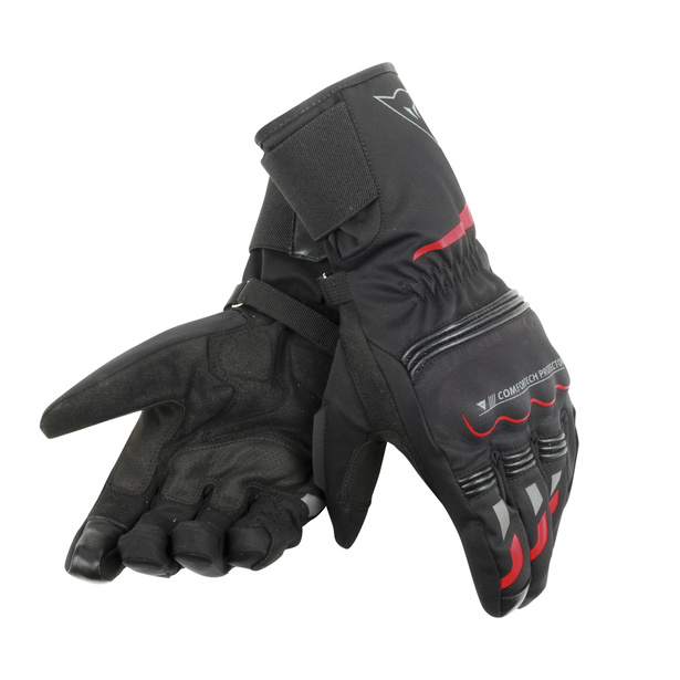 TEMPEST UNISEX D-DRY® LONG GLOVES BLACK/RED- D-Dry®