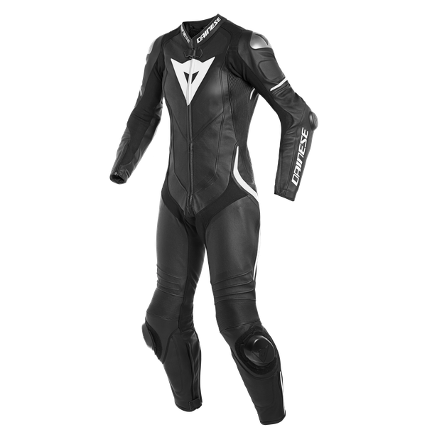 LAGUNA SECA 4 1PC PERF. LADY LEATHER SUIT BLACK/BLACK/WHITE- Profesionales