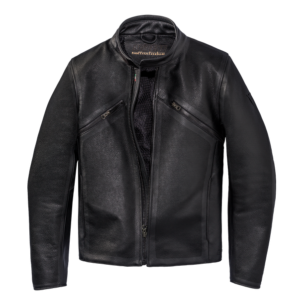 PRIMA72 PERF. LEATHER JACKET  BLACK