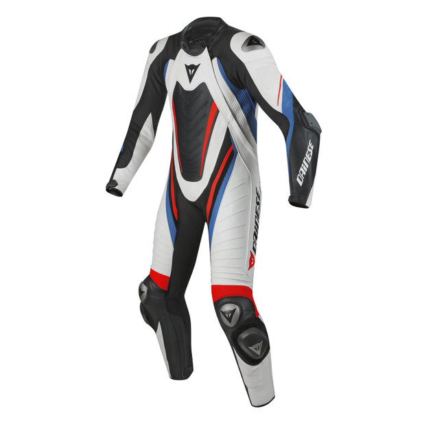 AERO EVO D1 1 PC. SUIT WHITE/BLACK/SKY-BLUE