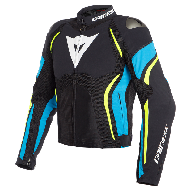 ESTREMA AIR TEX JACKET BLACK/FIRE-BLUE/FLUO-YELLOW- Tissus