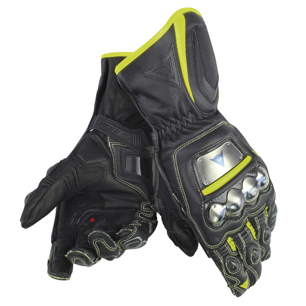 FULL METAL D1 BLACK/YELLOW-FLUO- Gloves