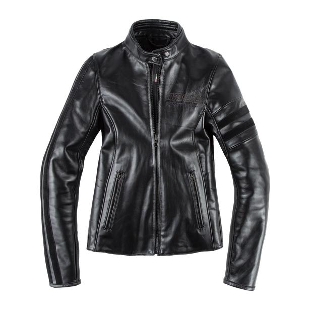 FRECCIA72 LADY LEATHER JACKET BLACK/BLACK