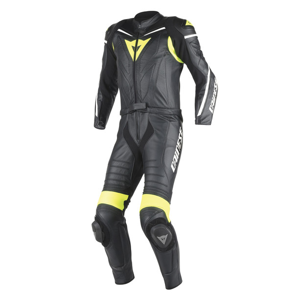 LAGUNA SECA D1 2PCS SUIT BLACK/BLACK/FLUO-YELLOW