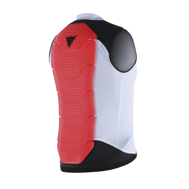 GILET MANIS 13 WHITE/RED-FLUO- Dos